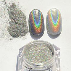 1g värikäs super flash jauhe laser hopea flash jauhe metalli kynsien