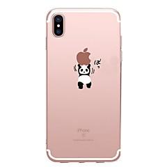 Назначение iPhone X iPhone 8 Чехлы панели Прозрачный С узором Задняя крышка Кейс для Композиция с логотипом Apple Панда Мягкий
