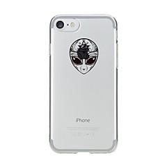 Назначение iPhone 7 iPhone 7 Plus Чехлы панели Прозрачный С узором Задняя крышка Кейс для Черепа Мягкий Термопластик для Apple iPhone 7