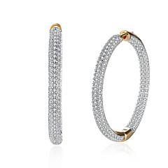preiswerte Ohrringe-Damen Kubikzirkonia Tropfen-Ohrringe Kreolen - Zirkon, Kubikzirkonia Personalisiert, Modisch Gold Für Geschenk Alltag