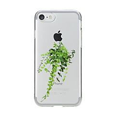 Недорогие Кейсы для iPhone 5-Кейс для Назначение Apple iPhone X iPhone 8 Прозрачный С узором Кейс на заднюю панель дерево Мягкий ТПУ для iPhone X iPhone 8 Pluss