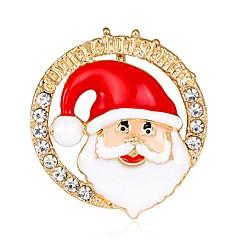 お買い得  ブローチ-男性用 / 女性用 ブローチ - ローズゴールドめっき ファッション ブローチ 虹色 用途 クリスマス / 新年