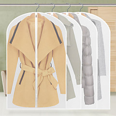 9Pcs Thickening Transparent Clothes Storage Bag Suit Overcoat Dustproof Hang Random Style