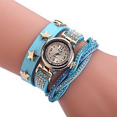 voordelige Armbandhorloges-Dames Modieus horloge Armbandhorloge Unieke creatieve horloge Chinees Kwarts PU Band Bedeltjes Vrijetijdsschoenen Elegante horloges Zwart
