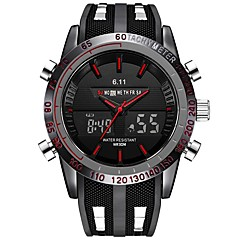 cheap Digital Watches-Men's Digital Watch Japanese Calendar / date / day / Chronograph / Water Resistant / Water Proof Silicone Band Luxury / Vintage / Casual