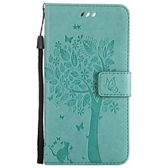For One Plus One Plus 5 3 Phone Case PU Leather Material Cat and Tree Pattern Phone Case