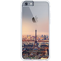 Til iPhone 7 iPhone 7 Plus Etuier Ultratyndt Transparent Mønster Bagcover Etui Eiffeltårnet Byudsigt Blødt TPU for Apple iPhone 7 Plus
