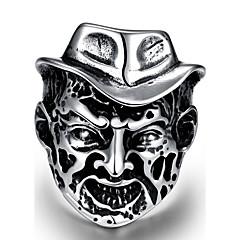 Χαμηλού Κόστους -Ανδρικά Δαχτυλίδι για τη μέση των δαχτύλων Κοσμήματα Πανκ Στυλ Εξατομικευόμενο Ανοξείδωτο Ατσάλι Κράμα Geometric Shape Skull shape