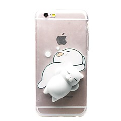 Voor iPhone X iPhone 8 iPhone 8 Plus iPhone 7 iPhone 7 Plus Hoesje cover Transparant Patroon DHZ squishy Achterkantje hoesje Kat 3D