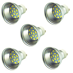5 pièces 3W Spot LED 15 diodes électroluminescentes SMD 5730 Décorative Blanc Chaud Blanc Froid 300lm 3000-7000