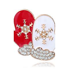 Damskie Broszki Modny Chrismas Kryształ górski Stop Biżuteria Na Ulica Święta Bożego Narodzenia