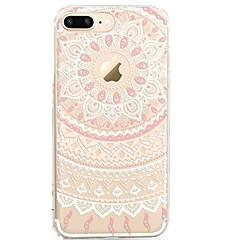 billige Etuier til iPhone 6-Etui Til iPhone X iPhone 8 Transparent Mønster Bagcover Blonde Tryk Blødt TPU for iPhone X iPhone 8 Plus iPhone 8 iPhone 7 Plus iPhone 7