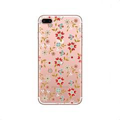 Недорогие Кейсы для iPhone 5с-Кейс для Назначение Apple iPhone X / iPhone 8 Прозрачный / С узором Кейс на заднюю панель Цветы Мягкий ТПУ для iPhone X / iPhone 8 Pluss / iPhone 8