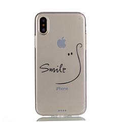 для чехлов крышка прозрачный шаблон задняя крышка чехол слово / фраза soft tpu для apple iphone x iphone 8 plus iphone 8 iphone 7 plus