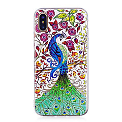 お買い得  iPhone 5S/SE ケース-ケース 用途 Apple iPhone X / iPhone 8 Plus 蓄光 / IMD / パターン バックカバー 動物 ソフト TPU のために iPhone X / iPhone 8 Plus / iPhone 8