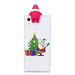 Недорогие Чехлы и кейсы для Sony-Кейс для Назначение Sony Xperia XA1 Ultra Xperia XA1 С узором Своими руками Задняя крышка 3D в мультяшном стиле Рождество Мягкий TPU для