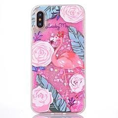 для корпуса крышка текучая жидкость шаблон задняя крышка чехол фламинго жесткий ПК для Apple iphone x iphone 7 плюс iphone 7 iphone 6s
