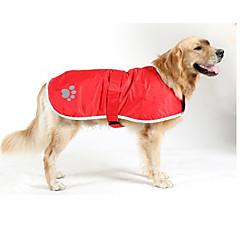 お買い得  犬用ウェア&アクセサリー-犬 コート 犬用ウェア ソリッド レッド / ブルー / ハンターグリーン ナイロン コスチューム ペット用 防水 / 保温
