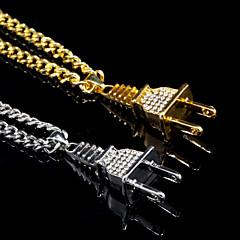 Муж. Ожерелья с подвесками Сплав Классика Bling Bling Бижутерия Назначение Повседневные