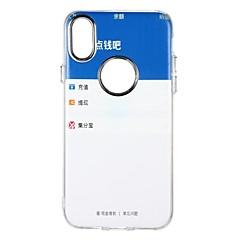 Кейс для Назначение Apple iPhone X iPhone 8 iPhone 8 Plus Защита от удара С узором Задняя крышка другое Мягкий TPU для iPhone X iPhone 8