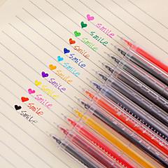12 개 / 12 색 온도계 젤 펜 세트
