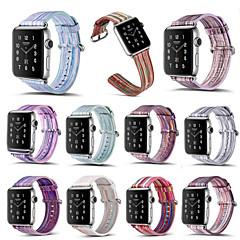 voor appelwatch serie 3 2 1 regenboog gestreept echt lederen horlogeband 38mm 42mm kleurrijke horlogebandje