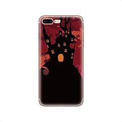 Недорогие Кейсы для iPhone-Кейс для Назначение Apple iPhone X iPhone 8 iPhone 8 Plus С узором Кейс на заднюю панель Halloween Мягкий ТПУ для iPhone X iPhone 8 Pluss