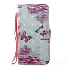 Кейс для Назначение Apple iPhone X iPhone 8 Plus Кошелек Бумажник для карт со стендом Флип Магнитный С узором Чехол Бабочка Твердый