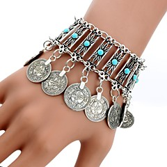 preiswerte Armbänder-Damen Kristall Quaste Bettelarmbänder - Türkis Quaste, Böhmische, Boho Armbänder Silber Für Alltag Normal