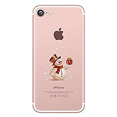Custodia Per Apple iPhone X iPhone 8 iPhone 8 Plus Ultra sottile Transparente Fantasia/disegno Custodia posteriore Natale Morbido TPU per