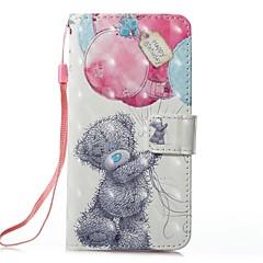 Недорогие Кейсы для iPhone-Кейс для Назначение Apple iPhone X iPhone 8 Plus Бумажник для карт Кошелек со стендом Флип Магнитный С узором Чехол Воздушные шары Твердый