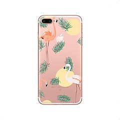 billige Dagens Tilbud-Etui Til iPhone X iPhone 8 Transparent Mønster Bagcover Flamingo Blødt TPU for iPhone X iPhone 8 Plus iPhone 8 iPhone 7 Plus iPhone 7