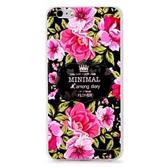 Кейс для Назначение Apple iPhone 7 iPhone 7 Plus Рельефный Задняя крышка Цветы Мягкий TPU для iPhone 7 Plus iPhone 7 iPhone 6s Plus