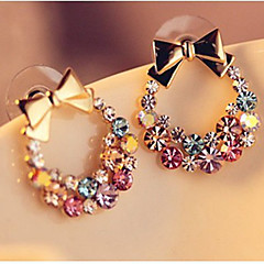 Women's Stud Earrings Rhinestone Bling Bling Classic Rhinestone Alloy Bowknot Jewelry For Daily Going out