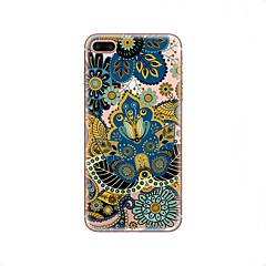 Недорогие Кейсы для iPhone 5с-Кейс для Назначение Apple iPhone X / iPhone 8 Прозрачный / С узором Кейс на заднюю панель Мандала Мягкий ТПУ для iPhone X / iPhone 8 Pluss / iPhone 8