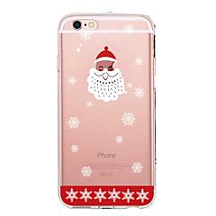 Недорогие Кейсы для iPhone X-Кейс для Назначение Apple iPhone X iPhone 8 iPhone 8 Plus Ультратонкий Прозрачный С узором Кейс на заднюю панель Рождество Мягкий ТПУ для