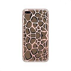 Недорогие Кейсы для iPhone 5-Кейс для Назначение Apple iPhone X iPhone 8 Прозрачный С узором Кейс на заднюю панель Леопардовый принт Мягкий ТПУ для iPhone X iPhone 8