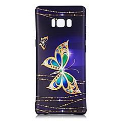 tanie Galaxy Note 4 Etui / Pokrowce-Kılıf Na Samsung Galaxy Wzór Czarne etui Motyl Miękkie TPU na Note 8 Note 5 Edge Note 5 Note 4 Note 3 Lite Note 3 Note 2 Note Edge Note