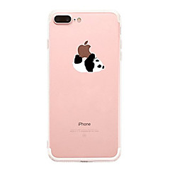 hoesje Voor Apple iPhone X iPhone 8 iPhone 8 Plus Ultradun Transparant Patroon Achterkantje Panda Zacht TPU voor iPhone X iPhone 7s Plus