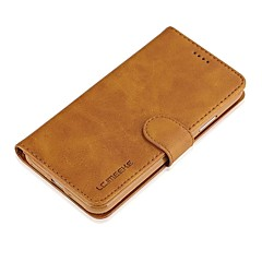 billige iPhone 6 Plus Plus-etuier-Etui Til Apple iPhone X iPhone 8 Kortholder Pung Flip Fuldt etui Helfarve Hårdt ægte læder for iPhone X iPhone 8 Plus iPhone 8 iPhone 7