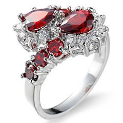 Férfi Női Ujjperc gyűrű Eljegyzési gyűrű Kocka cirkónia Cirkonium Réz Lógó Ékszerek Kompatibilitás Esküvő Parti Születésnap Eljegyzés