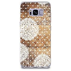 voordelige Galaxy S6 Edge Hoesjes / covers-hoesje Voor Samsung Galaxy Patroon Achterkant Houtnerf Paardebloem Zacht TPU voor S8 Plus S8 S7 edge S7 S6 edge plus S6 edge S6 S6 Active
