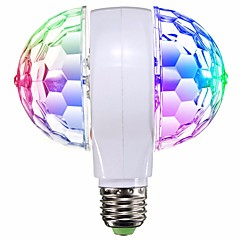 1pc LED RGB Stage Light Bulb E27 Rotating For KTV Bar Disco Party Decor Lamp Double Headed AC95-240V