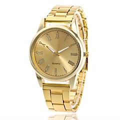 baratos Relógios em Oferta-Homens Mulheres Quartzo Relógio de Pulso Chinês Relógio Casual Metal Banda Amuleto Fashion Prata Dourada Ouro Rose