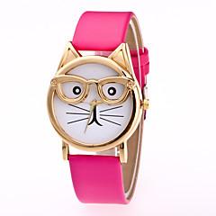 preiswerte Tolle Angebote auf Uhren-Damen Armbanduhr Quartz Armbanduhren für den Alltag Leder Band Analog Charme Modisch Schwarz / Weiß / Braun - Rosa Hellblau Leopard