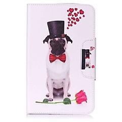 carpeta del sostenedor de la tarjeta del patrón del perro con la caja de cuero magnética de la PU del tirón del soporte para la lengüeta
