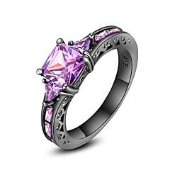 preiswerte Ringe-Damen Verlobungsring - Kubikzirkonia, Kupfer Luxus, Punk 6 / 7 / 8 / 9 Purpur Für Party Geschenk