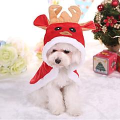 お買い得  犬用ウェア&アクセサリー-犬 コート 犬用ウェア ブリティッシュ レッド コットン コスチューム ペット用 クリスマス