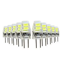 10 stuks 1W G4 2-pins LED-lampen 4 leds SMD 5730 Warm wit Koel wit 50lm 2800-3500/6000-6500K DC5V