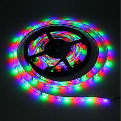 olcso RGB szalagfények-5 m RGB szalagfények 300 LED 3528 SMD RGB Cuttable / Öntapadós / Színváltós 5 V 1db